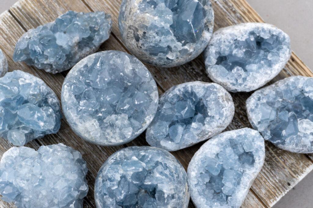 Blue Sapphire + Celestite