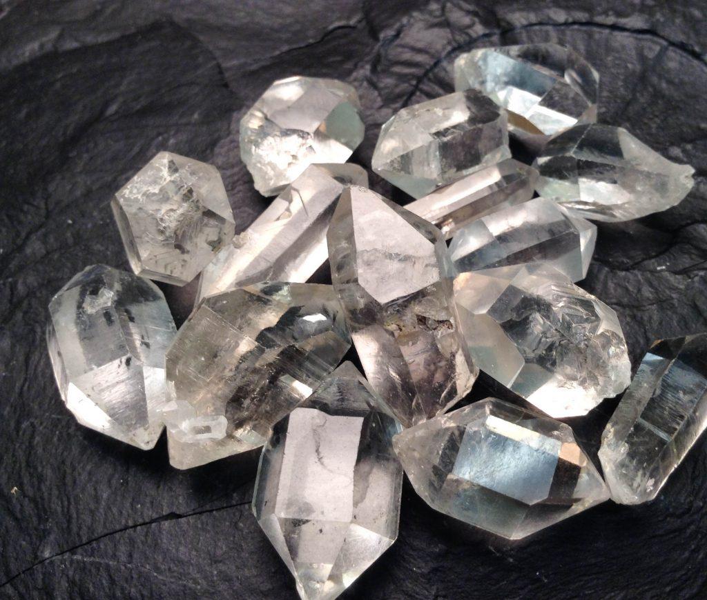 Celestite + Herkimer Diamond