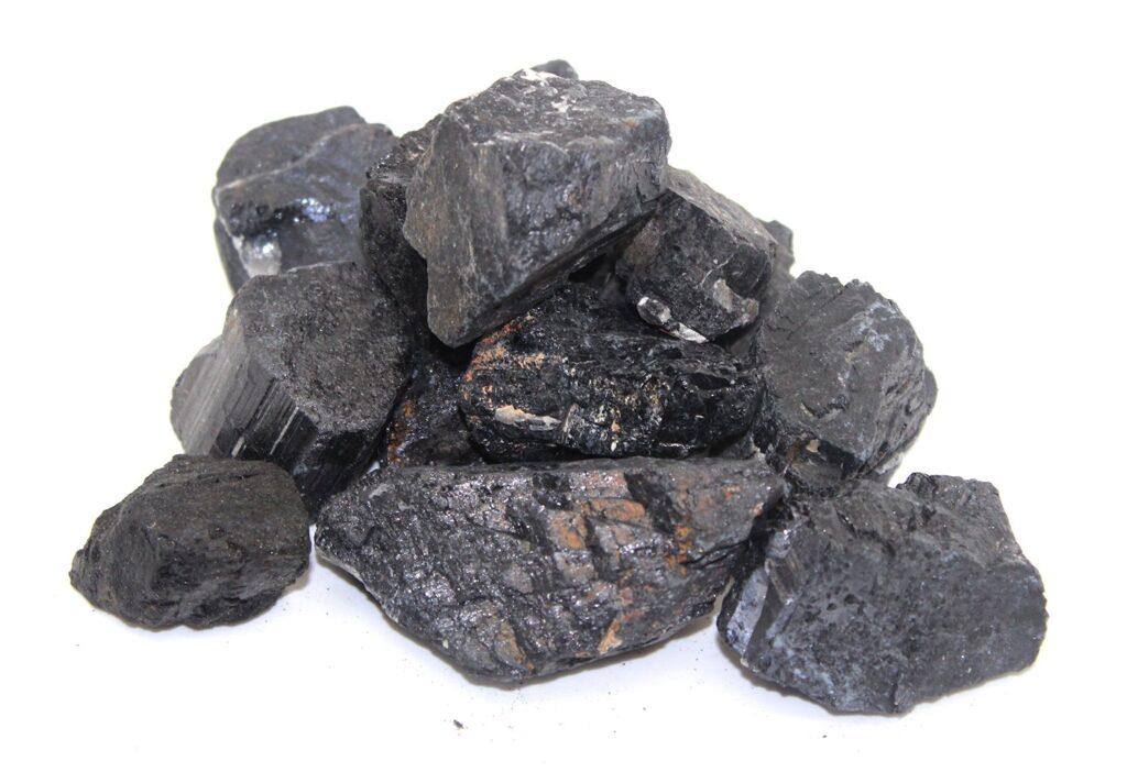 Blue Calcite + Black Tourmaline