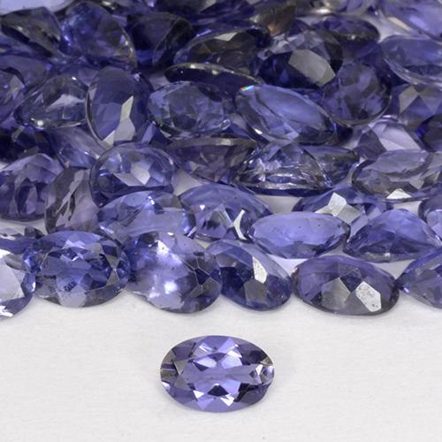 Blue Calcite + Iolite