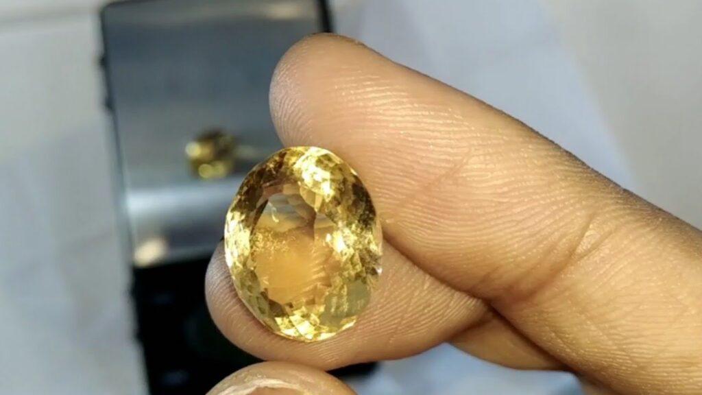 golden yellow topaz